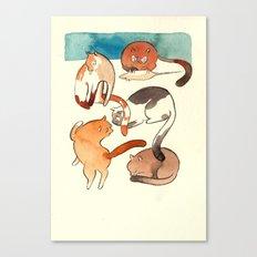 kitty card Canvas Print