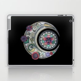 Spiral floral moon Laptop & iPad Skin