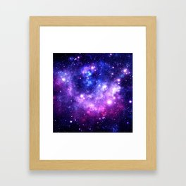 Purple Blue Galaxy Nebula Framed Art Print