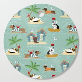 The Ultimate Dog Vacation pattern Cutting Board