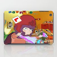 "magneto iPad Cases featuring "" Mini Magneto "" by Funki monkey animation studio"