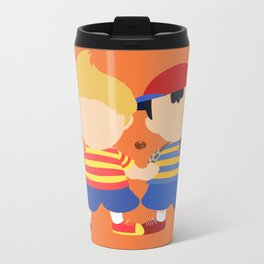 Ness&Lucas(Smash)Orange Metal Travel Mug
