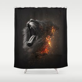 XTINCT x Lion Shower Curtain