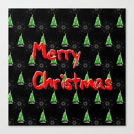 Merry Christmas Pattern Canvas Print