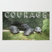 courage Area & Throw Rugs featuring Courage by Judith Lee Folde Photography & Art