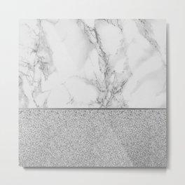 Marble + Glitter #1 Metal Print