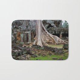 Ta Prohm Temple Ruins In Cambodia Bath Mat