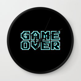 GAME OVER (blue) Wall Clock