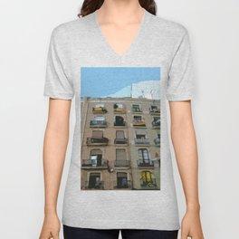 Barcelona Building  Unisex V-Neck