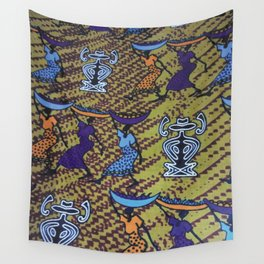 Ankara Print African Ladies Going to Market Wall Tapestry