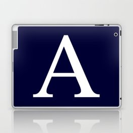 Navy Blue Basic Monogram A Laptop & iPad Skin