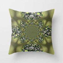 Chai Mandala - Green Mist Throw Pillow
