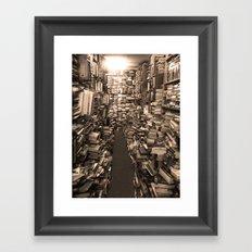 Book Store Framed Art Print