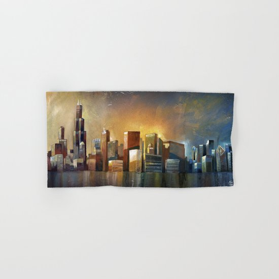 Chicago Sunrise Hand & Bath Towel