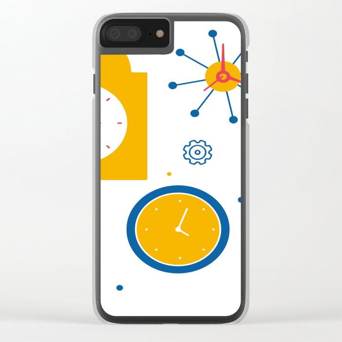 Clocks Clear iPhone Case