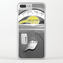 Parking Meter photography art Clear iPhone Case