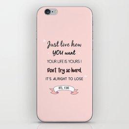 BTS Quote iPhone Skin