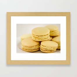 Sweet Lemon Macaron Dessert - Food Photography #Society6 Framed Art Print