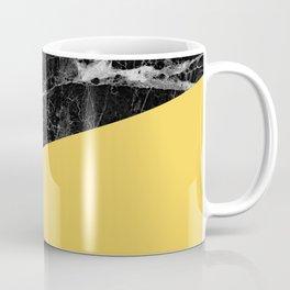 Black Marble and Primrose Yellow Color Coffee Mug