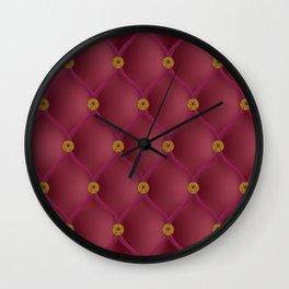 Studded red furniture velvet Wall Clock