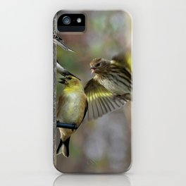 Goldfinches at the Feeder iPhone Case