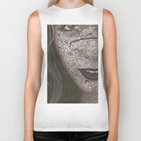no face Biker Tanks featuring Face  by Kate Allison
