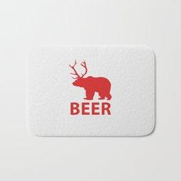 Bear + Deer = Beer Bath Mat