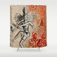 shiva Shower Curtains featuring Shiva by Maithili Jha