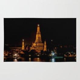 Wat Arun at Night, Bangkok, Thailand Rug