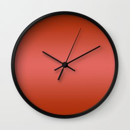 Red to Pastel Red Horizontal Bilinear Gradient Wall Clock