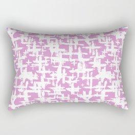 Brush cross on  pink Rectangular Pillow