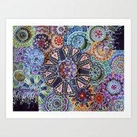 rave Art Prints featuring Rave by artworkbyemilie