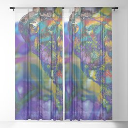 Fire Toad Sheer Curtain