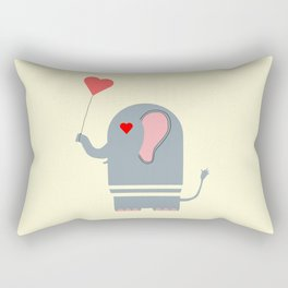 Elephant in love Rectangular Pillow
