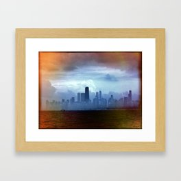 Foggy Skyline #22 Framed Art Print