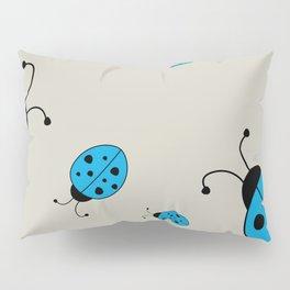 Ladybugs-Beige+Blue Pillow Sham