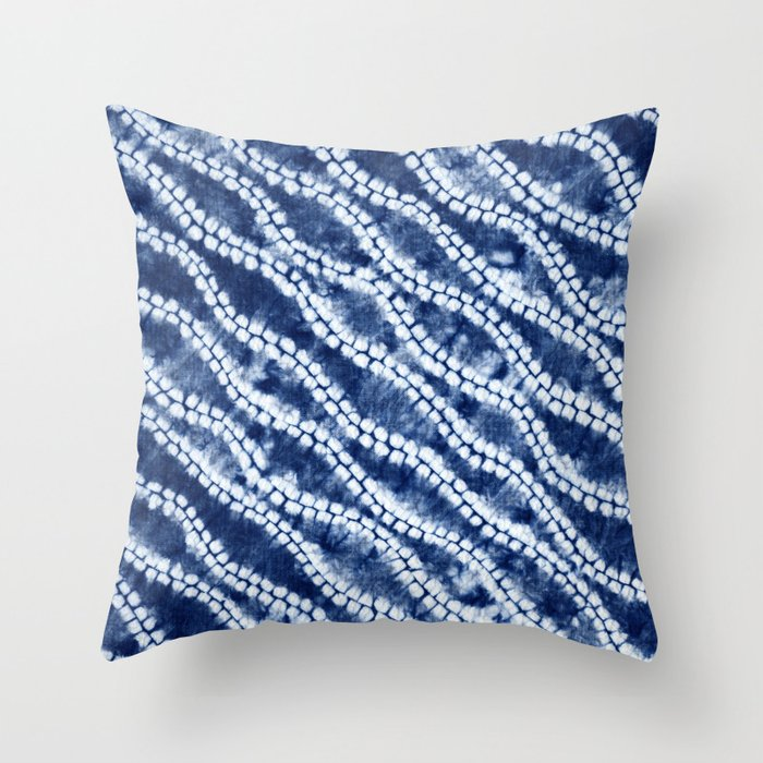 Shibori three Throw Pillow
