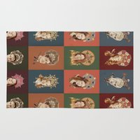 buffy Area & Throw Rugs featuring The Saints of Sunnydale  by mycolour