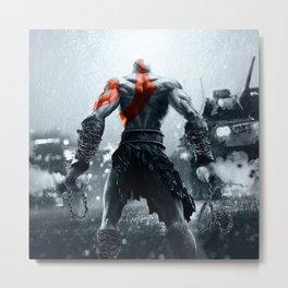 Kratos God Of War Metal Print