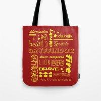 gryffindor Tote Bags featuring Gryffindor by husavendaczek