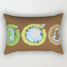 1st World: 2nd World: 3rd World Rectangular Pillow