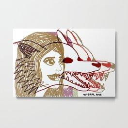 Triple She Wolf Metal Print