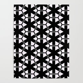Multi Pattern Black and White Design Poster