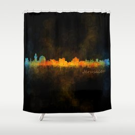 Jerusalem City Skyline Hq v4 Shower Curtain