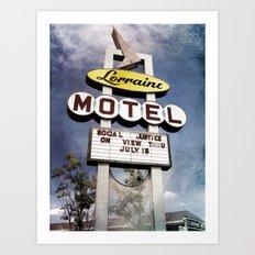 Motel Lorraine Art Print