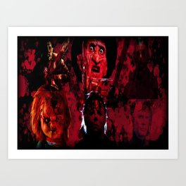 Masters Of All Horrors Art Print