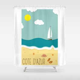 Cote d'Azur Shower Curtain