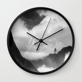 These mountains are mine of clouds Wall Clock
