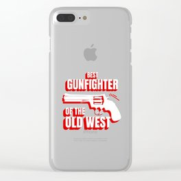 Wild West Collection Best Gunfighter Of Old West Clear iPhone Case