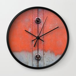 Red over Grey Wall Clock